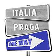 italia praga one way