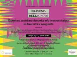 """Istituto italiano di cultura a Praga presenta """"Bramosia dell'ignoto"""""""