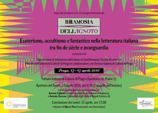 Istituto italiano di cultura a Praga presenta