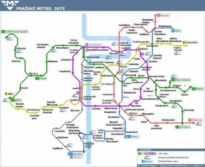 Praga: ecco come si evolverà la metro da oggi al 2100