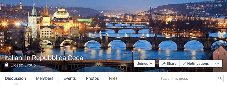 Gruppo Facebook Italiani in Repubblica Ceca