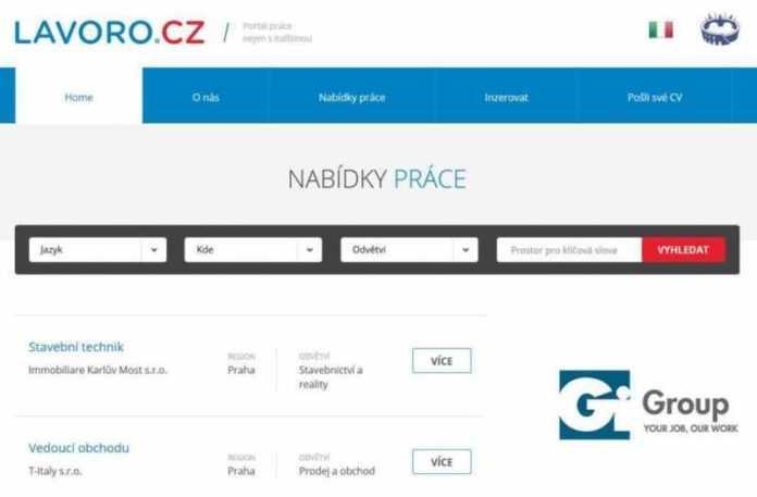 Lavoro.cz, per lavorare in Repubblica Ceca | Camera di Commercio e dell'Industria Italo-Ceca