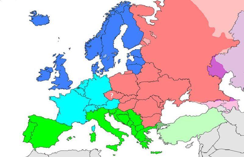 Repubblica Ceca Cartina Europa.La Repubblica Ceca Nell Europa Centrale Piu O Meno