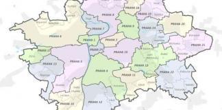 La suddivisione di Praga in distretti amministrativi