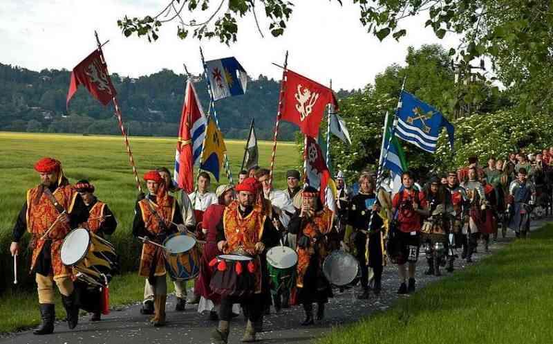 Královský Průvod processione reale in repubblica ceca giugno