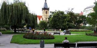 Lavori alla metro di Karlovo Namesti a Praga