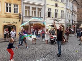 Busking a Praga