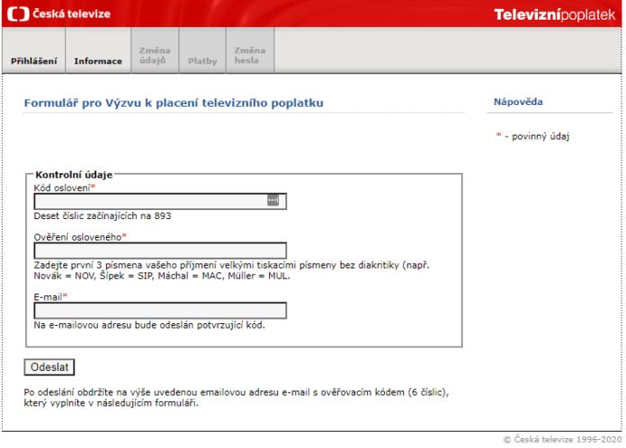 Come compilare il modulo per non pagare il canone TV in Repubblica Ceca