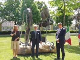inaugurazione Statua dell'amicizia italo-ceca